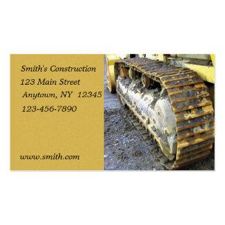 Cartão de indústria da construção cartao de visita