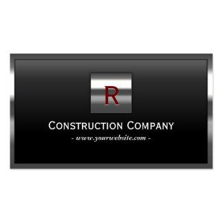 Cartão de indústria da construção de aço do monogr cartões de visita