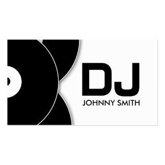 Cartão de indústria musical do registro de vinil cartão de visita