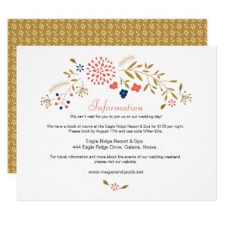 Cartão de informação do casamento do jardim do convite 10.79 x 13.97cm