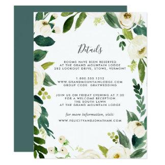 Cartão Cartão de informação do convidado do alabastro