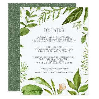 Cartão de informação selvagem do convidado do