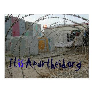 cartão de itisapartheid.org cartão postal