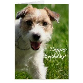 Cartão de Jack Russell Terrier do feliz