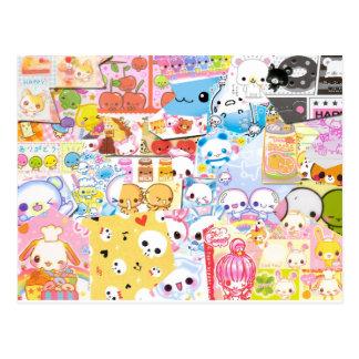 Cartão de Kawaii Cartão Postal