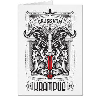 Cartão de Krampus com poema engraçado
