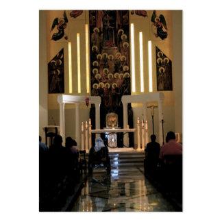 Cartão de limpeza da oração da colóquio do fogo cartão de visita grande