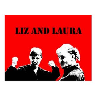 Cartão de Liz e de Laura