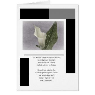 Cartão de luto Calla