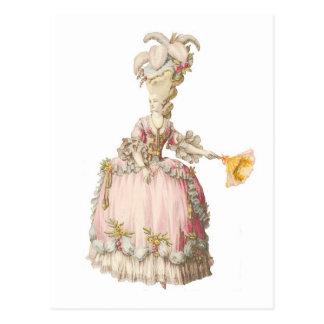 Cartão de Marie Antoinette do francês