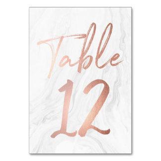 Cartão de mármore branco moderno 12 do número da