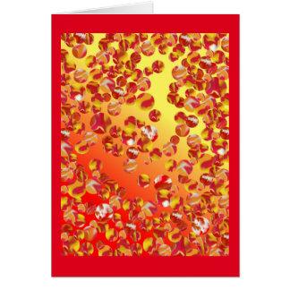 Cartão de mármore da arte do remendo - multi