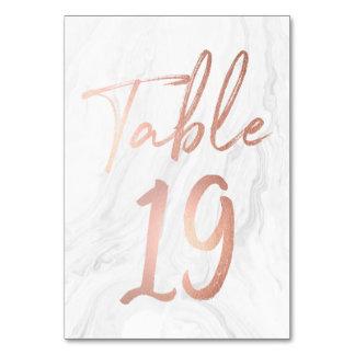 Cartão de mármore e cor-de-rosa 19 do número da