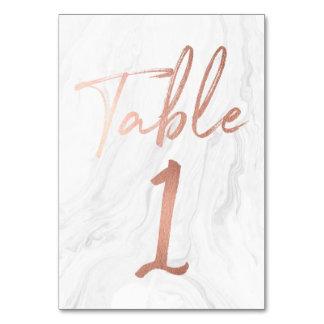Cartão de mármore e cor-de-rosa 1 do número da