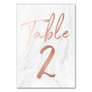 Cartão de mármore e cor-de-rosa 2 do número da