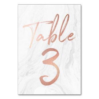 Cartão de mármore e cor-de-rosa 3 do número da