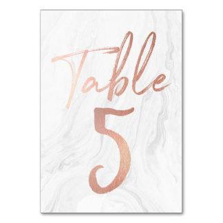 Cartão de mármore e cor-de-rosa 5 do número da