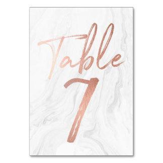 Cartão de mármore e cor-de-rosa 7 do número da