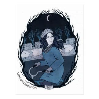 """Cartão de """"Mary"""" - corrediças do inverno"""