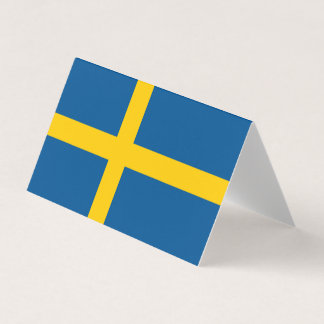 Cartão De Mesa Bandeira da suecia