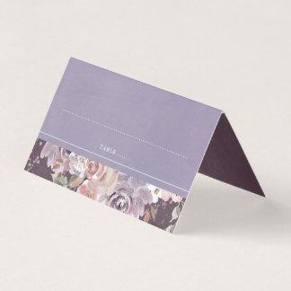 Cartão De Mesa Lilac da ameixa e casamento vintage floral malva