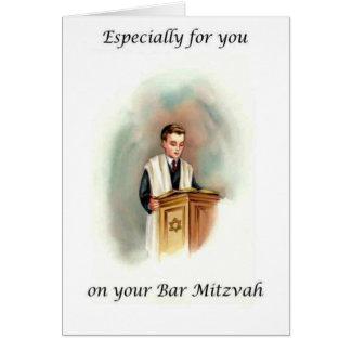 Cartão de Mitzvah do bar
