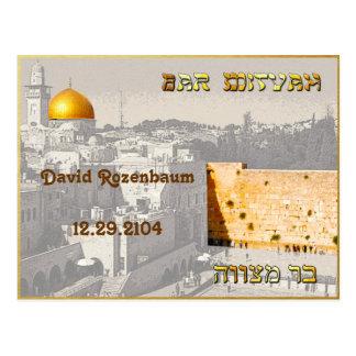 Cartão de Mitzvah do bar Cartão Postal