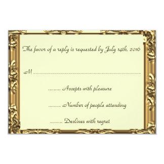 Cartão de Mitzvah RSVP do bar do quadro do