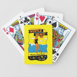 Cartão de Myrtle Beach Baralho Para Pôquer