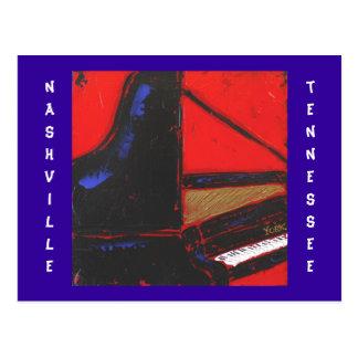cartão de Nashville TN do piano do cobalto