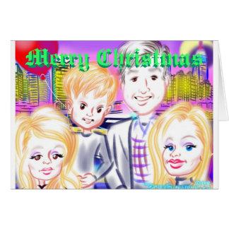 Cartão de Natal 12a das caricaturas