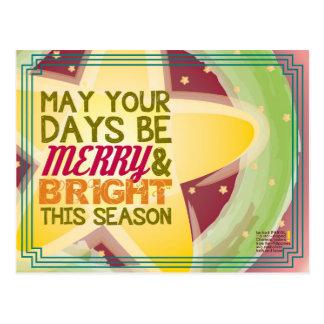 cartão de Natal alegre & brilhante Cartões Postais