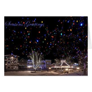 Cartão de Natal:  'Aurora boreal