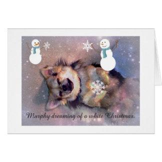 Cartão de Natal bonito do cachorrinho