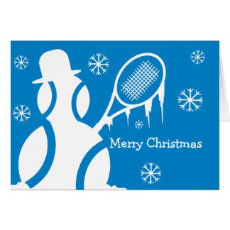 Cartão de Natal bonito para jogadores de ténis -
