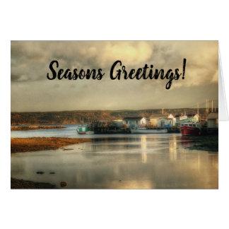 Cartão de Natal bretão de Canadá da ilha do cabo