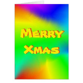 Cartão de Natal brilhante, festivo do arco-íris
