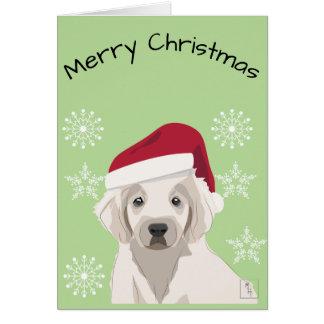 Cartão de Natal Cachorrinho Triste