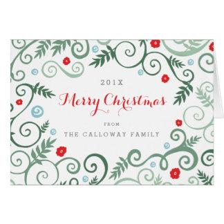 Cartão de Natal clássico da elegância
