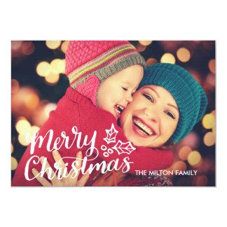 Cartão de Natal completo indicado por letras da Convite 12.7 X 17.78cm