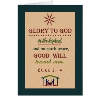 Cartão de Natal cristão