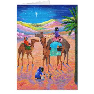 Cartão de Natal cristão Creationarts do gato