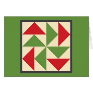 Cartão de Natal da edredão - o quebra-cabeça do