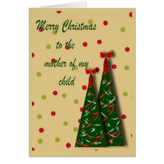 Cartão de Natal de Momma do bebê