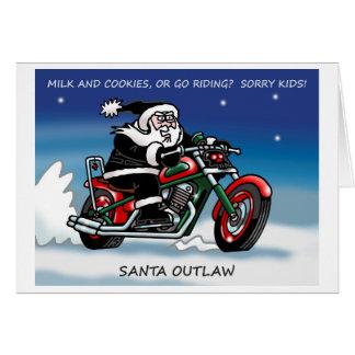 Cartão de Natal de Outlaw© do papai noel