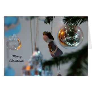 Cartão de Natal - decorações de suspensão