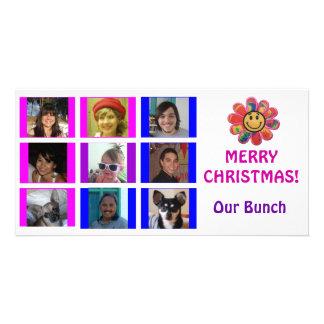 Cartão de Natal do aniversário da grade do estilo  Cartões Com Foto