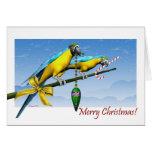 Cartão de Natal do bastão de doces do ornamento do