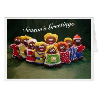 Cartão de Natal do coro da família do