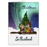 Cartão de Natal do Ex-Marido - esquilos